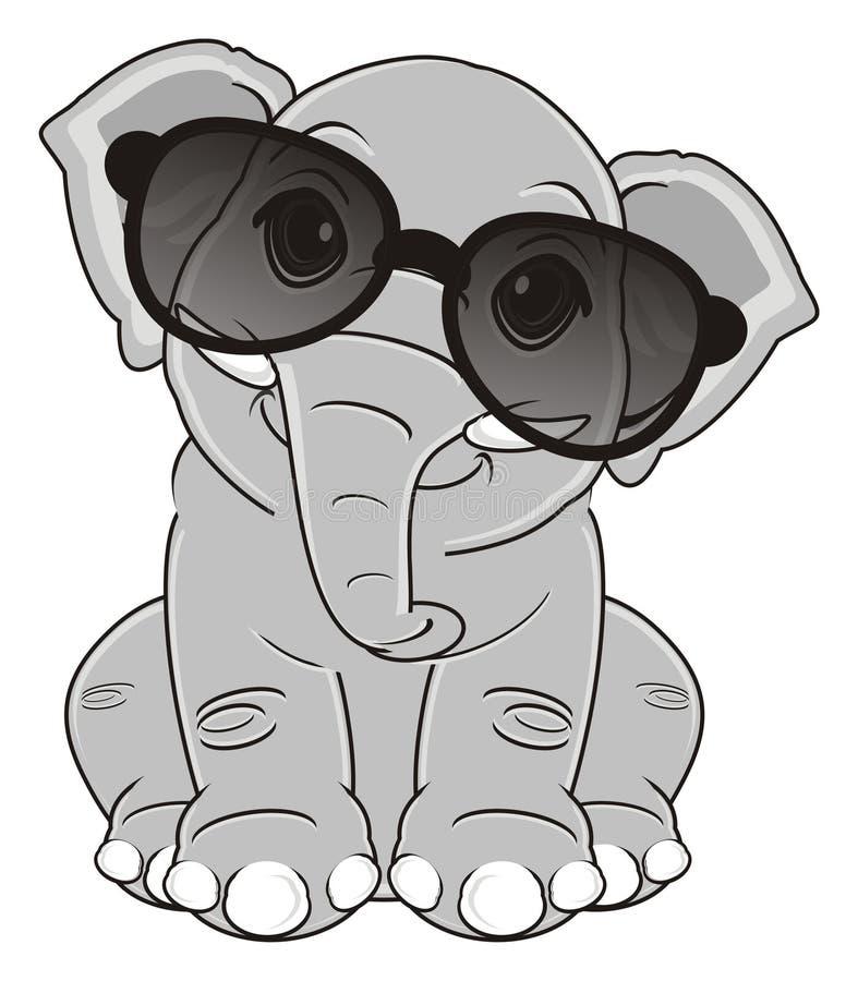 Elefante en gafas de sol libre illustration