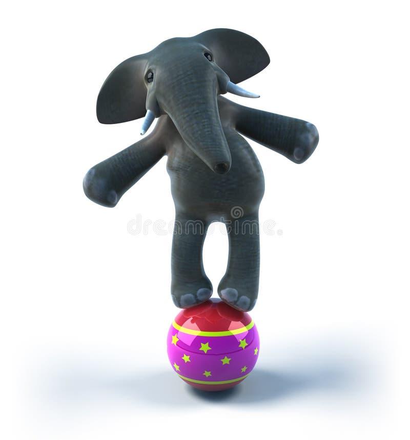 Elefante en un circo ilustración del vector