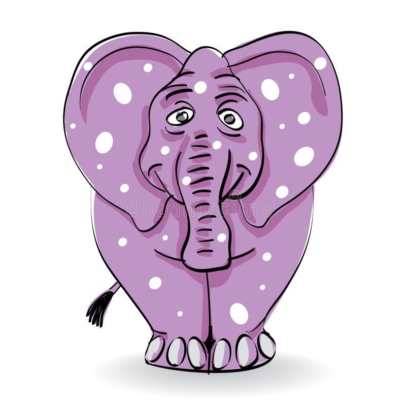 Elefante enfermo ilustración del vector