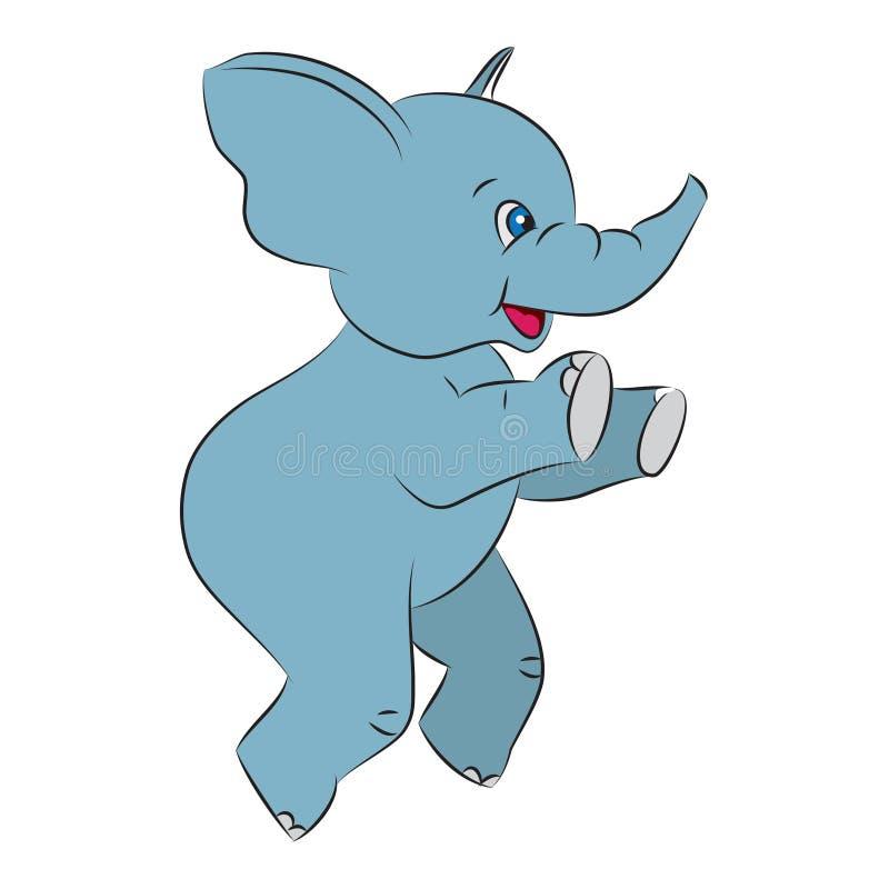 Elefante entusiasta de salto stock de ilustración