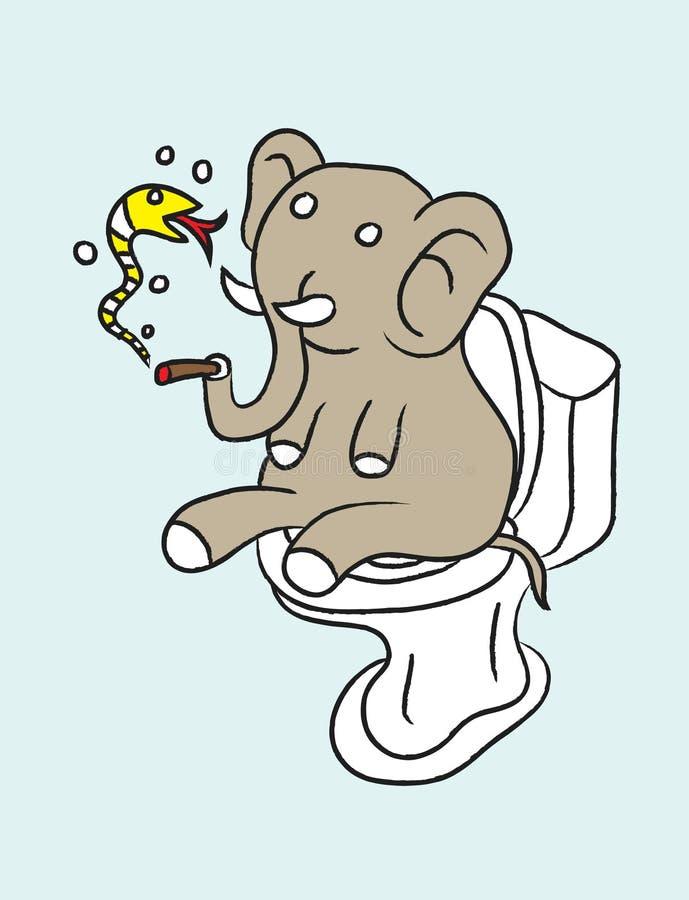 Elefante estúpido stock de ilustración