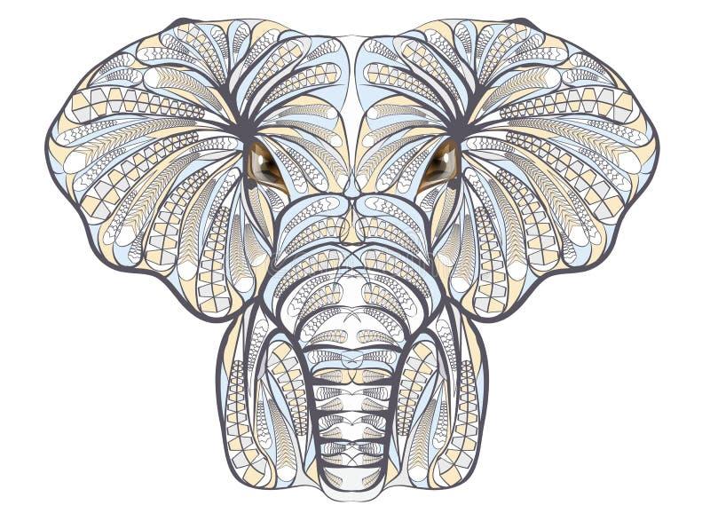 Elefante etnico illustrazione di stock