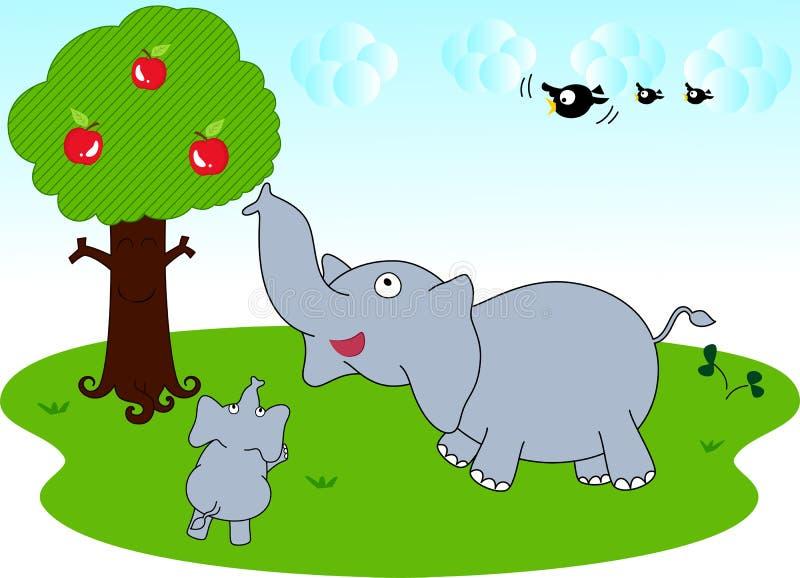 Elefante family2 illustrazione di stock