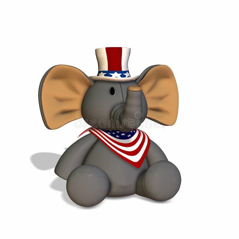 Elefante farcito GOP illustrazione di stock