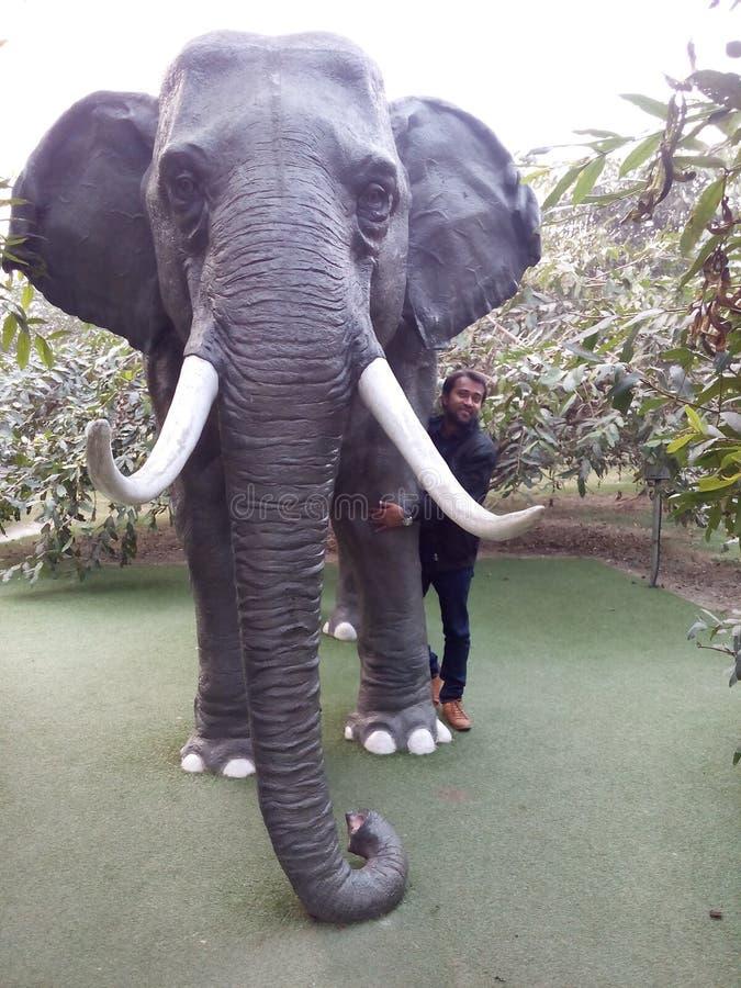 Elefante fatto a mano in kol immagine stock