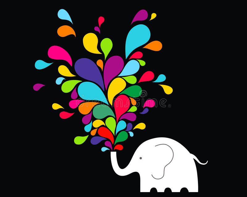 Elefante felice illustrazione vettoriale