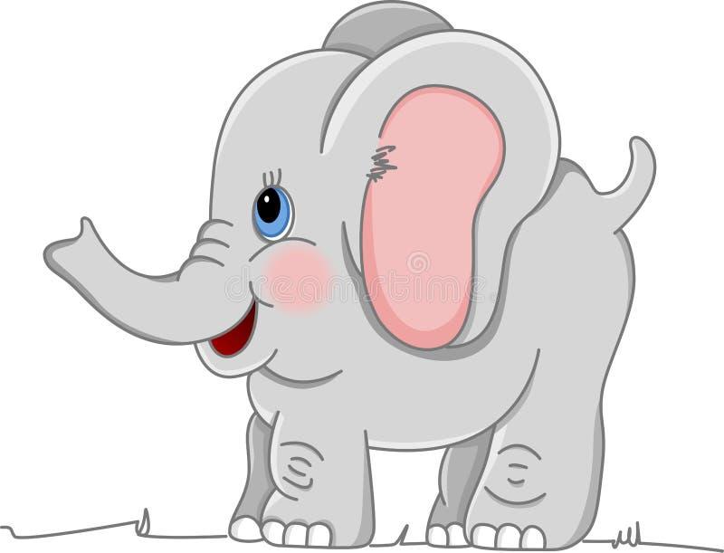 Elefante felice del bambino illustrazione vettoriale