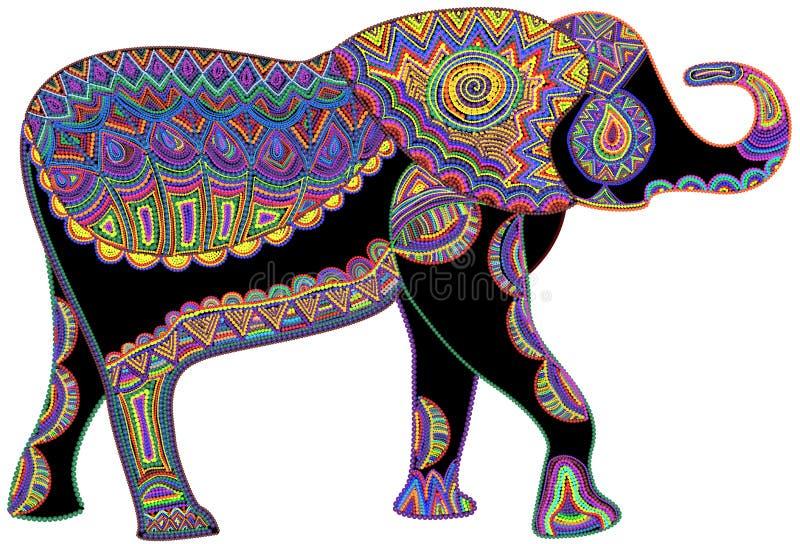 Elefante feliz stock de ilustración
