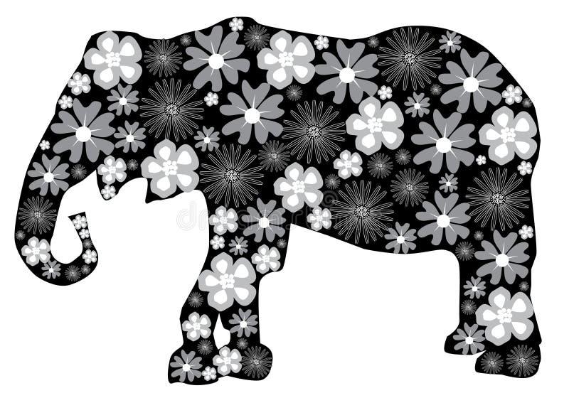 Elefante floreale illustrazione vettoriale