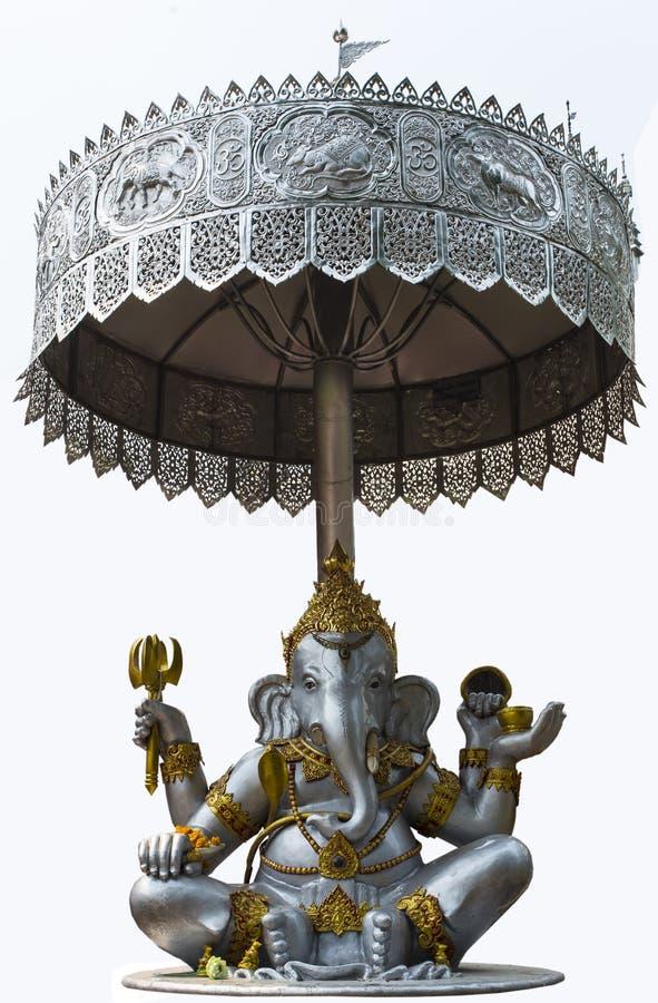 Elefante - fondo intestato di Isolated On White del monaco di Dio immagine stock