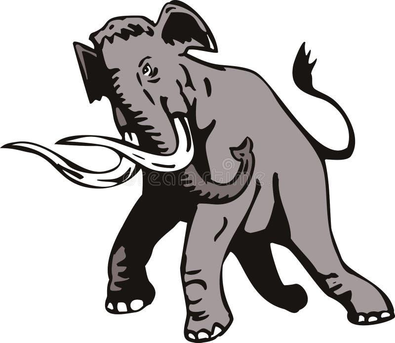 Download Elefante gigantesco ilustración del vector. Ilustración de blanco - 7280414