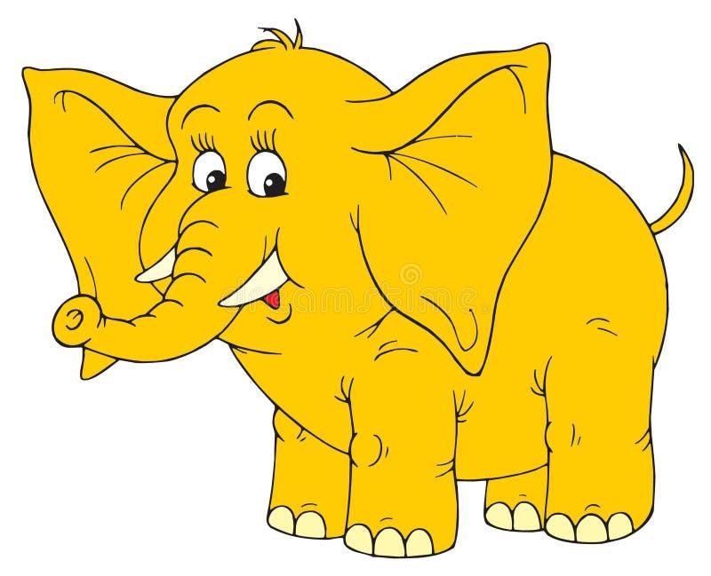 Elefante (grampo-arte do vetor) ilustração royalty free