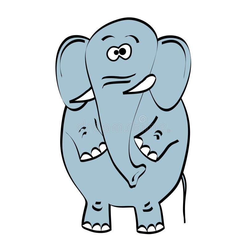 Elefante gris en el fondo blanco stock de ilustración
