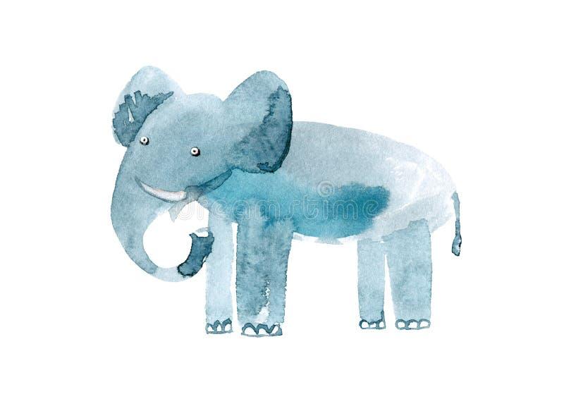Elefante Imagen del animal salvaje Ejemplo dibujado mano de la acuarela libre illustration