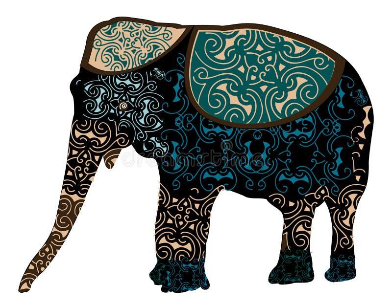 Elefante indiano ilustração royalty free