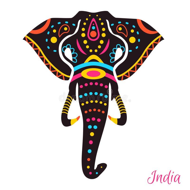 Elefante indiano ilustração do vetor