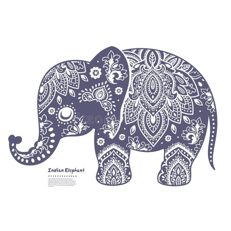 Elefante indiano d'annata illustrazione di stock
