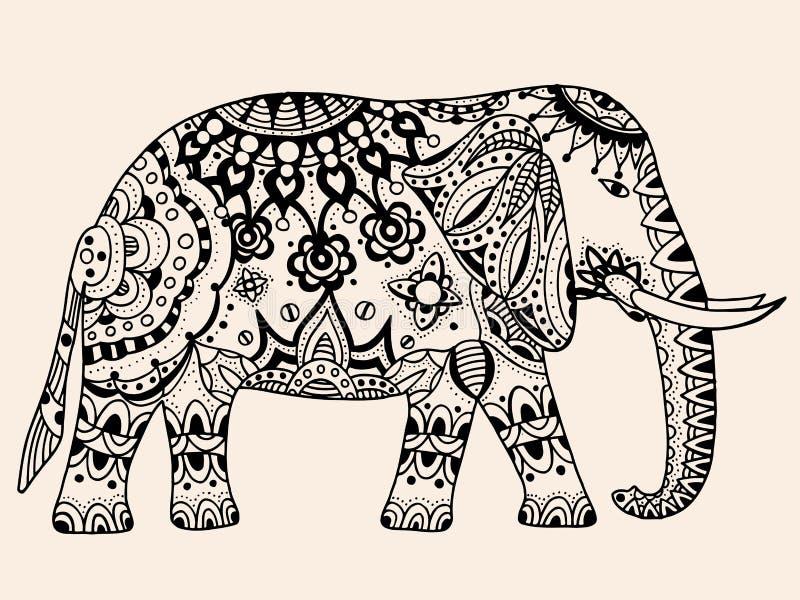 Elefante indio del vector ilustración del vector