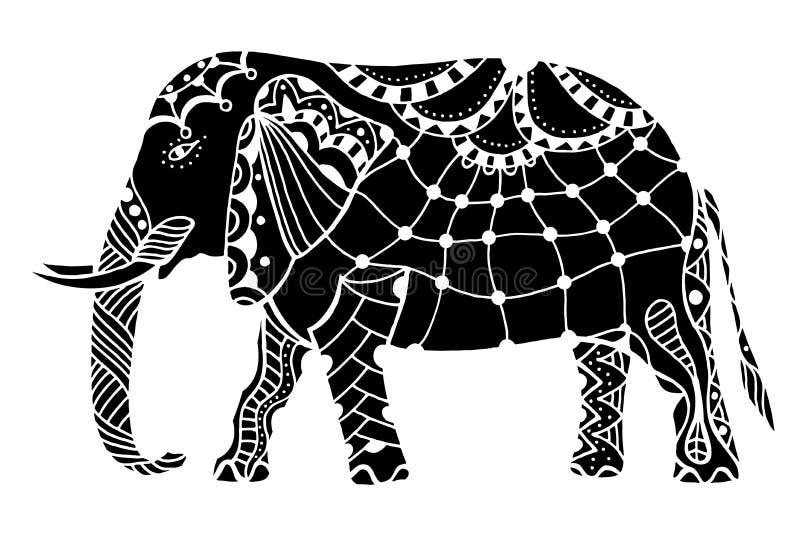 Elefante indio negro libre illustration
