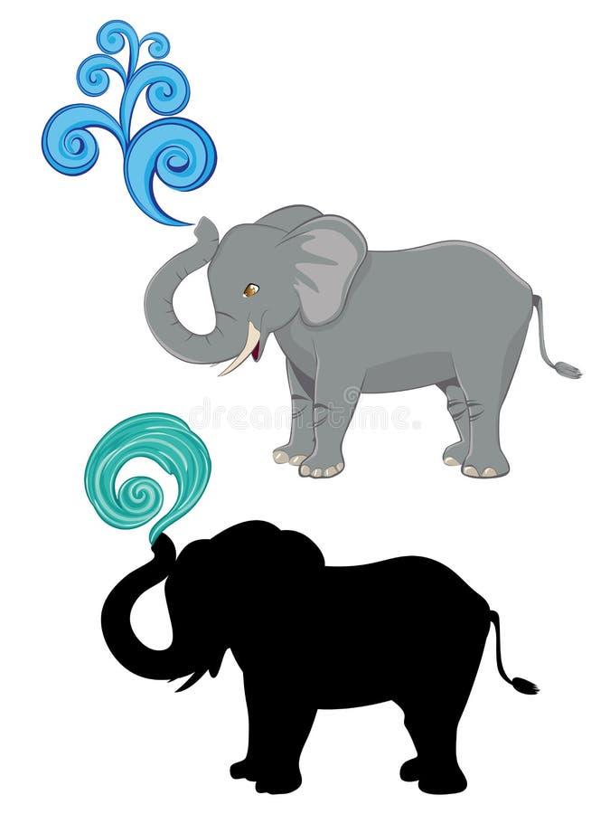 Elefante lindo de la historieta ilustración del vector