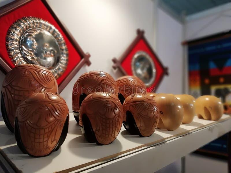 Elefante moderno di legno immagini stock libere da diritti