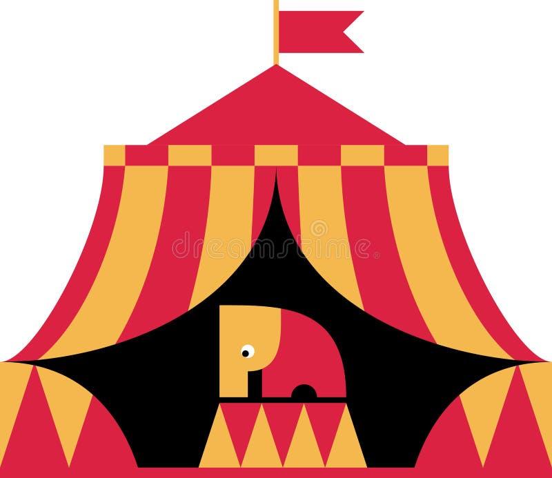 Elefante nel circo royalty illustrazione gratis