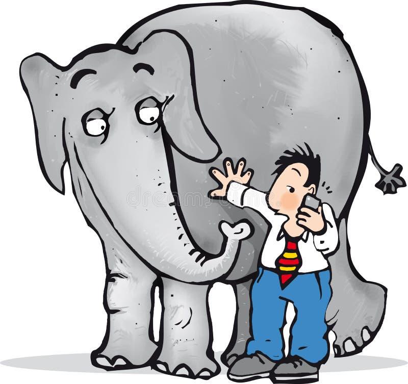 Elefante nella sala royalty illustrazione gratis