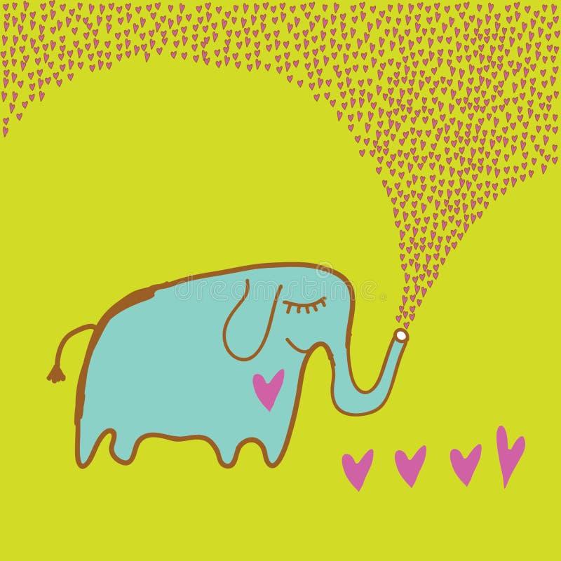 Elefante no amor ilustração stock
