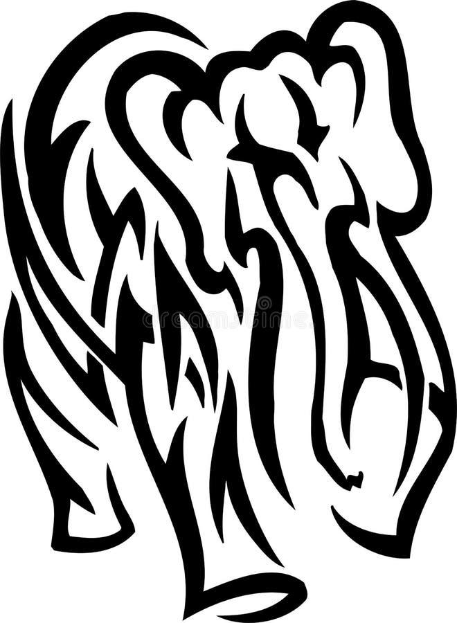 Elefante no estilo tribal - ilustração do vetor ilustração do vetor