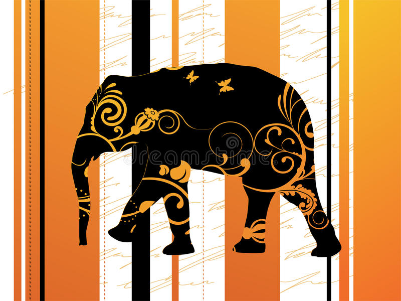 Elefante ornamentale illustrazione di stock