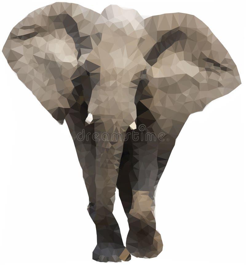 Elefante poligonal bajo libre illustration