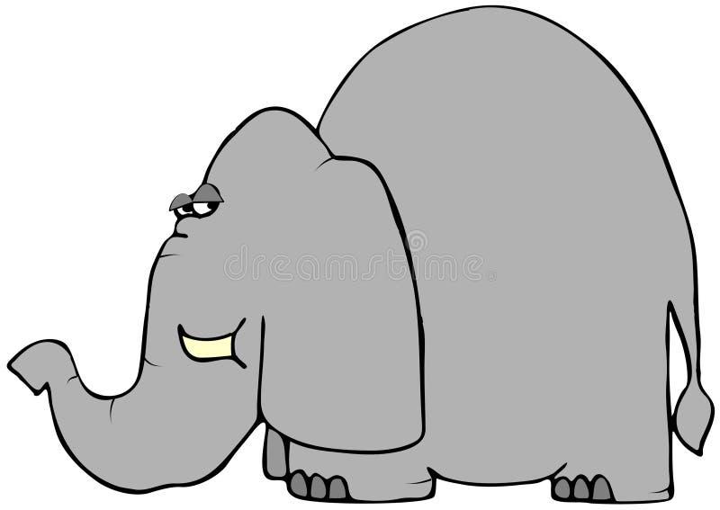 Elefante prudente illustrazione vettoriale