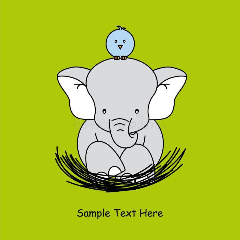 Elefante que se sienta en la jerarquía libre illustration