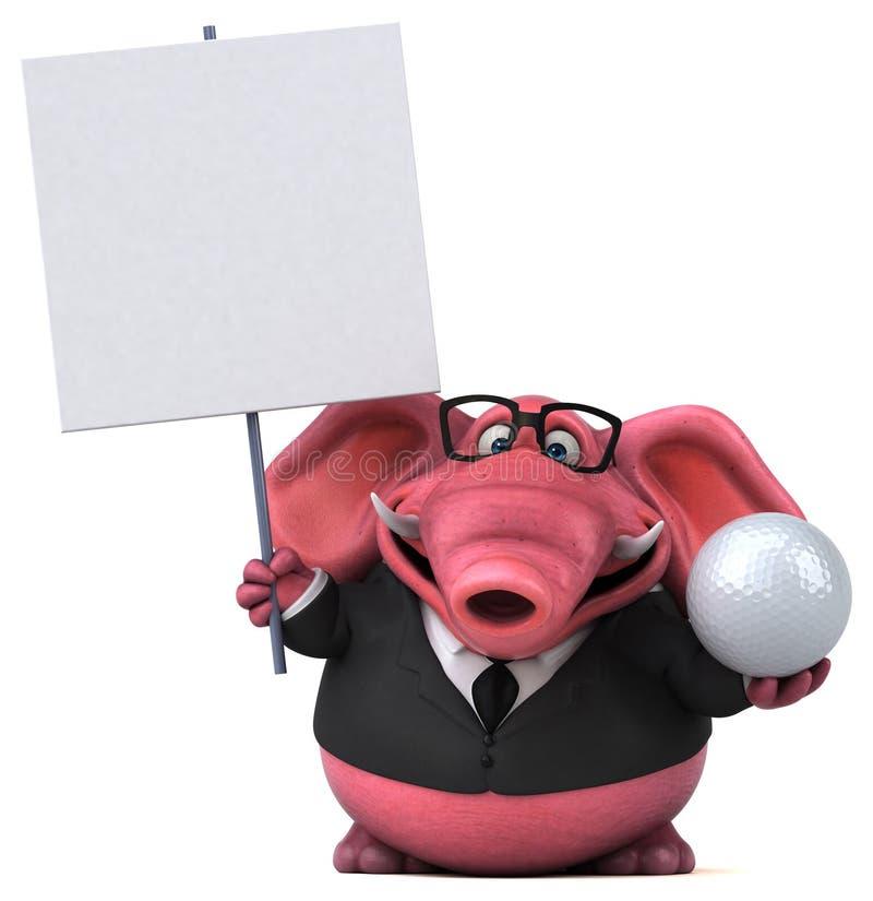 Elefante rosa - illustrazione 3D illustrazione di stock