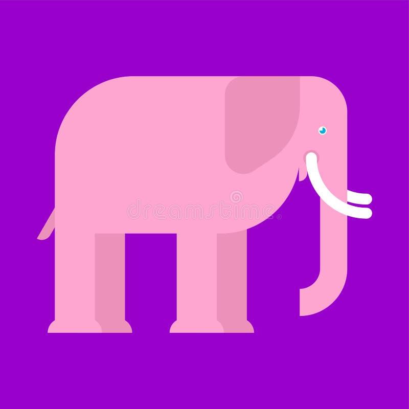 Elefante rosado aislado Animal grande fantástico Símbolo del amor libre illustration