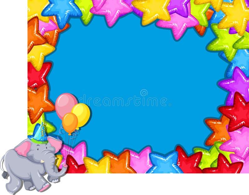 Elefante sul confine del partito royalty illustrazione gratis