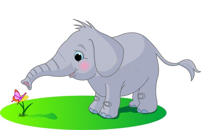 Elefante sveglio del bambino illustrazione vettoriale