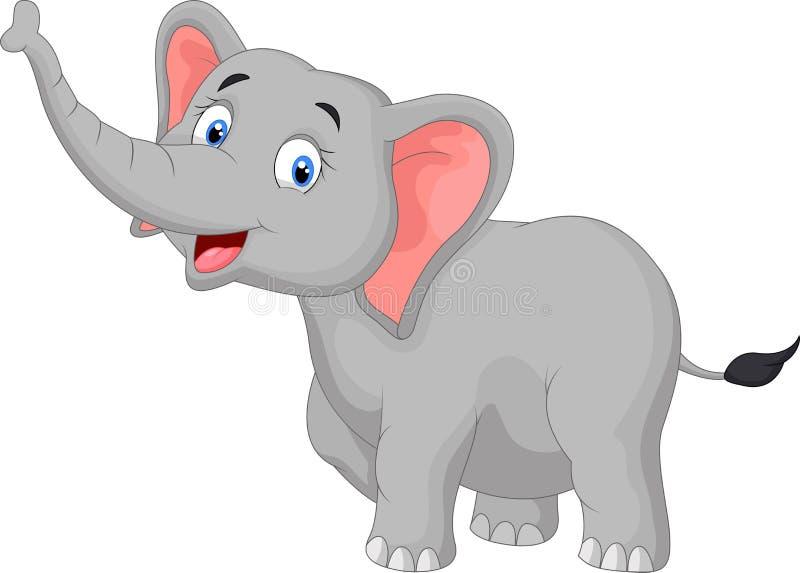 Elefante sveglio del fumetto illustrazione di stock