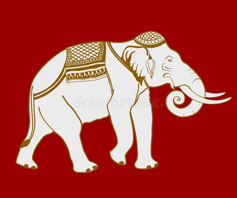 Elefante tailandés stock de ilustración