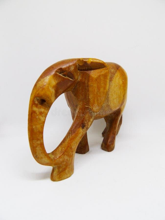 Elefante tribale africano che scolpisce dal legno senza zanne immagine stock libera da diritti