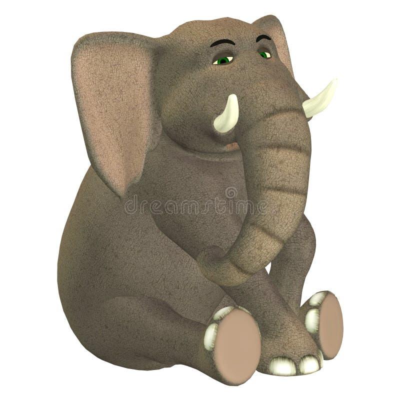 Elefante triste illustrazione di stock