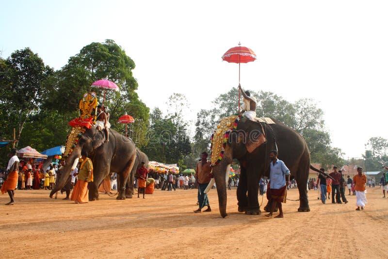 Elefanten im Festival. stockfotografie