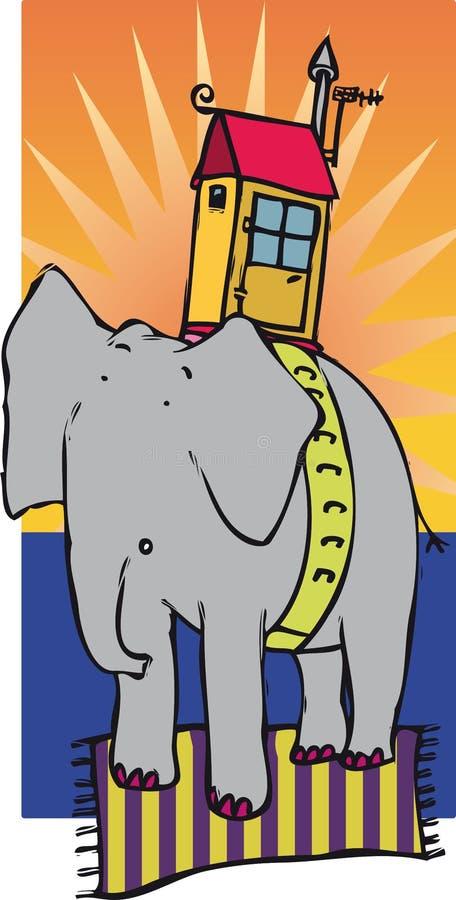 Elefantenhaus lizenzfreie abbildung