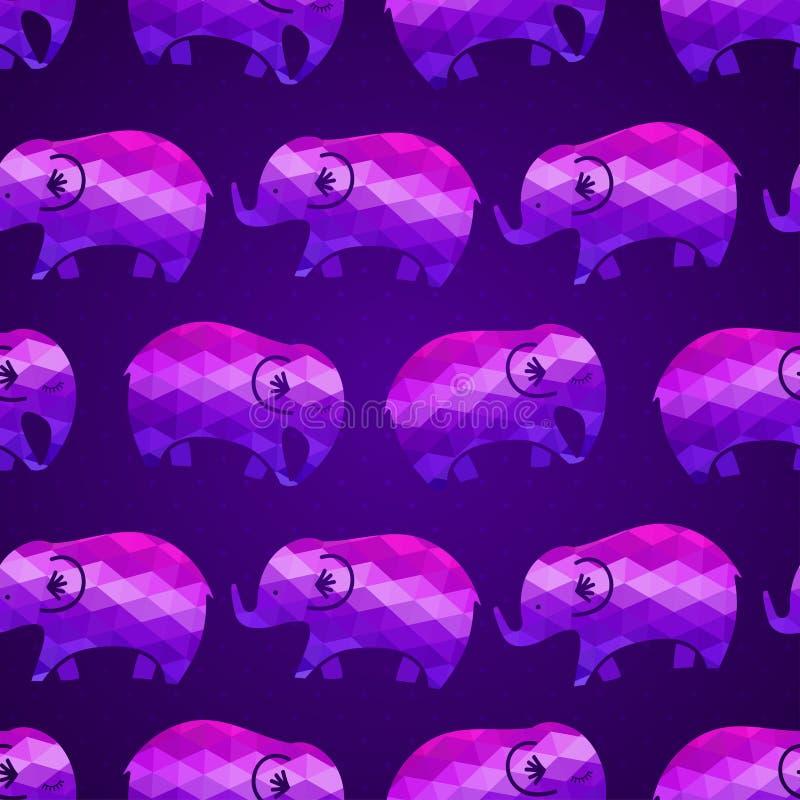 elefanter mönsan seamless stock illustrationer