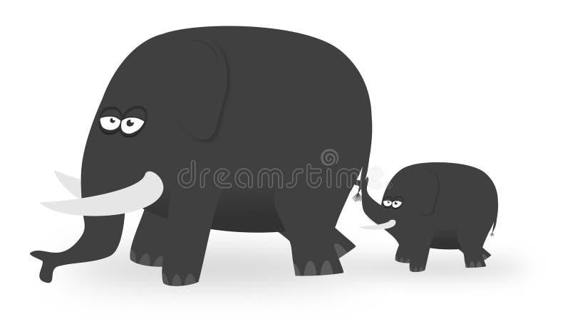 Elefantes de la historieta imagenes de archivo