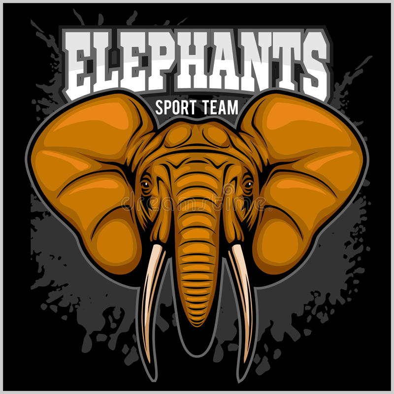 Elefantes - Símbolo Del Equipo Del Club De Deporte Insignia Del ...