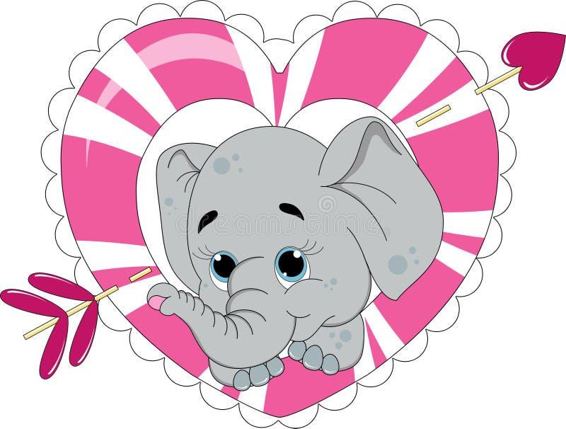 Elefantförälskelse royaltyfri illustrationer