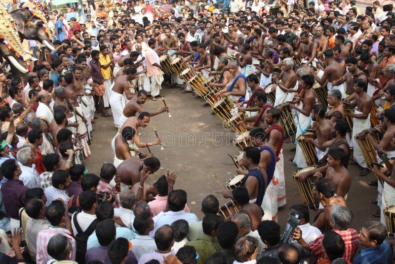 Elefantfestival von Thrissur stockfoto