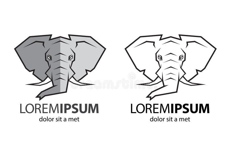 Elefanthauptlogo stockbild