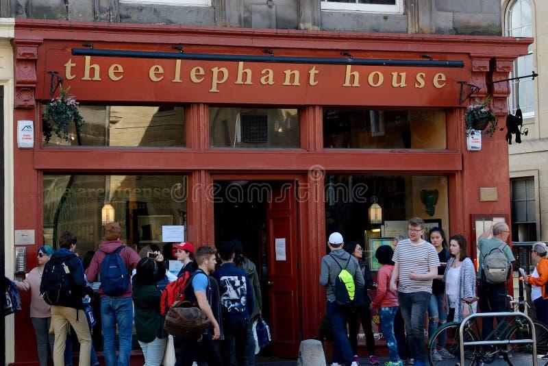 Elefanthuset, Edinburg, Skottland fotografering för bildbyråer